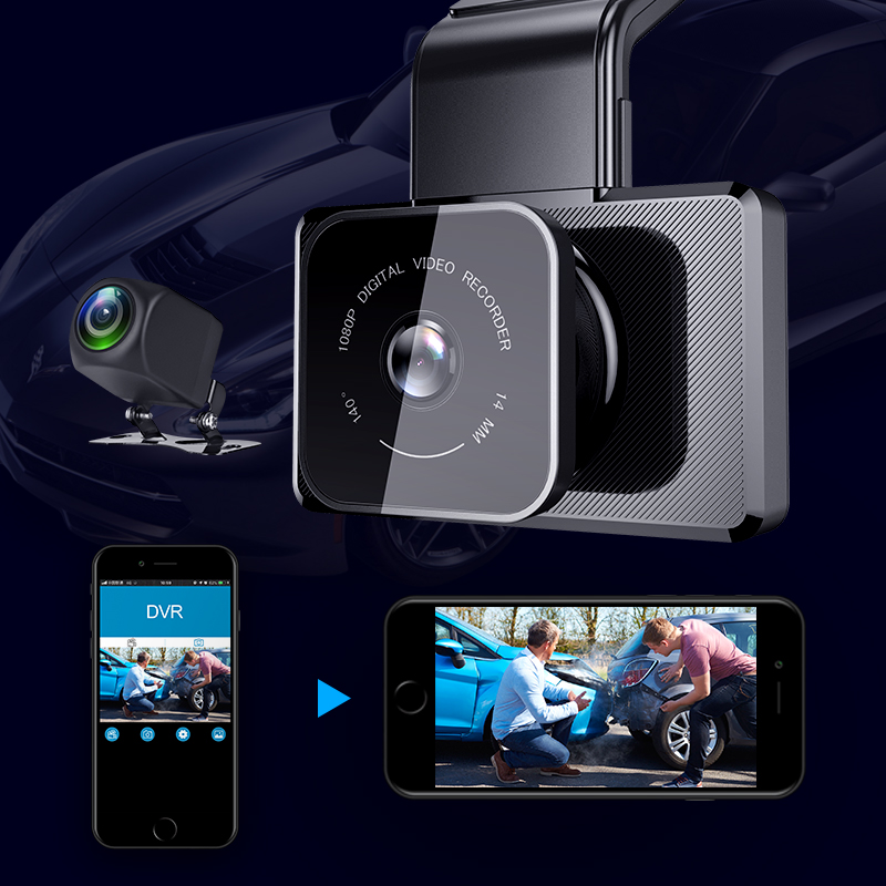 1080P WIFI Dash Cam GPS Track Car DVR 30FPS Ultra HD Super Night Vision Camera Video Recorder Auto Phone Connection 24H Parking 2