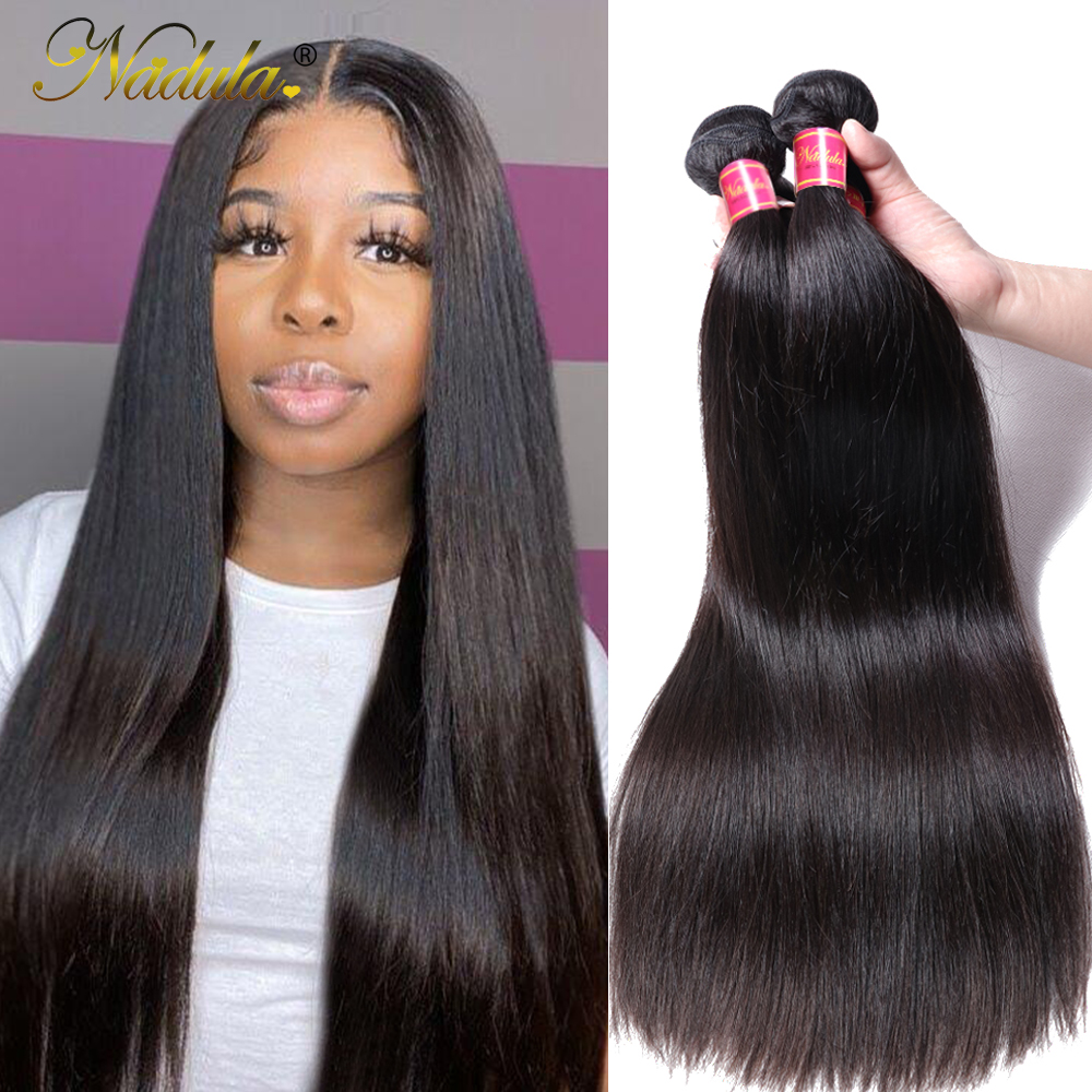 Nadula Hair 1pcs/3Bundles/4 Bundles  Straight Hair s 100%  Bundles 8-30inch 100g  Hair  1