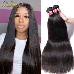 Nadula Hair 1pcs/3Bundles/4 Bundles Malaysian Straight Hair Weaves 100% Human Hair Bundles 8-30inch 100g Remy Hair Free Shipping