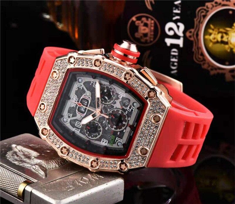Cadeau diamant DZ digite homme montre Rlo dz Auto Date semaine affichage lumineux plongeur montres acier inoxydable poignet homme mâle horloge - 6