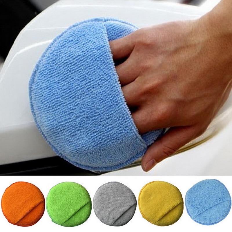 Автомобильная моющая Чистящая салфетка из микрофибры для восковой депиляции губка для мытья автомобиля, аппликатор-спонж, автомобильный в...