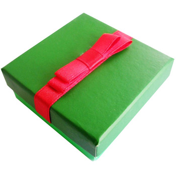 Square jewelry organizer box 100pcs/lot  Green with butterfly Couple Ring or Earring Jewerly Packing Box 6.3*6.3*2.5cm