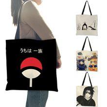 Casual tote bolsa anime japonês kakashi impressão sacos bolsa feminina reutilizável compras sacos de ombro b06125