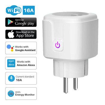 Wtyczka Wi-Fi gniazdo sterowania Tuya Smart 16A kontrolowana aplikacją europejskie EU monitorowanie czasu kompatybilne z Alexa Google Assistant tanie i dobre opinie Elivco Brak CN (pochodzenie) Standardowy uziemienie Rohs Wtyczki elektrycznej None Bundle1 Domy ogólnego przeznaczenia