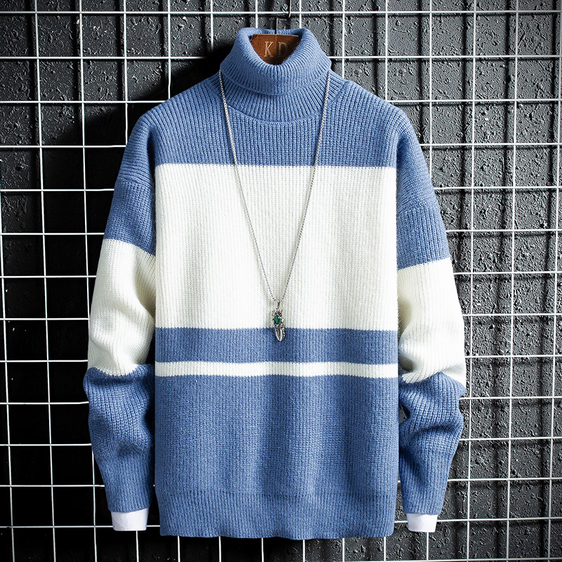 Men Sweater New Arrival 2019 Autumn Winter Soft Sweater Thick Knitted Pullover Korean Harajuku Homme Sweaters Warm Wool Clothing
