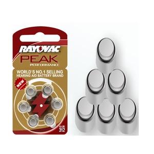 Image 3 - Hearing Aid Batteries 30PCS/5cards RAYOVAC PEAK A312/312/PR41 Zinc Air batterie 1.45V   Size 312 Diameter 7.9mm Thickness 3.6mm