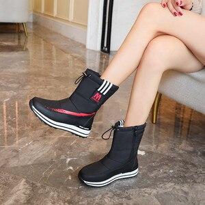 Image 5 - Fedonas inverno novo quente confortável feminino apartamentos plataforma botas de neve com zíper botas de tornozelo feminino casual escritório sapatos básicos mulher