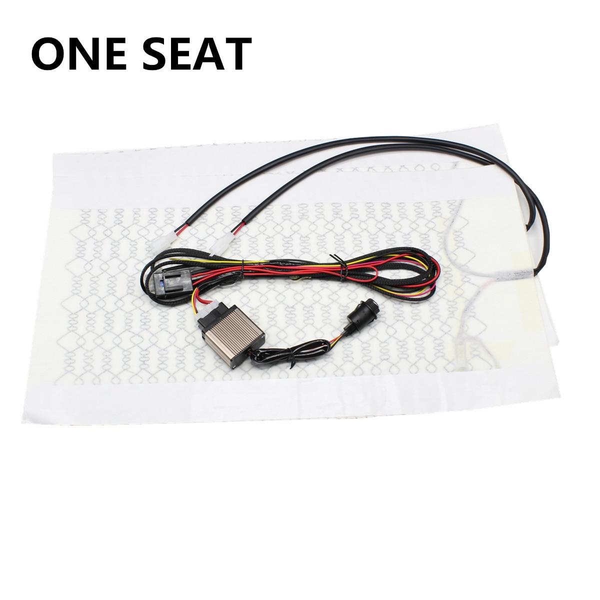 6 Level 12V Carbon Fiber Universal Car Heated heating Heater Seat Pads Winter