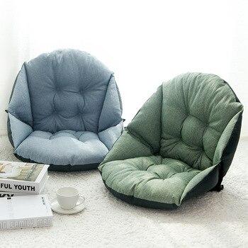 Student linen upholstery thick warm seat cushion office waist cushion computer chair cushion