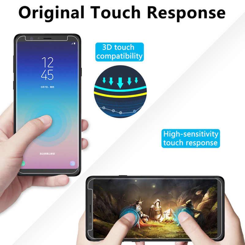 9H Disco de Vidro Temperado para Samsung A7 2018 A750 A6 A8 Além de Protetor de Tela para Galaxy A51 A71 A31 A21S A50 A70 A30 Telefone Vidro