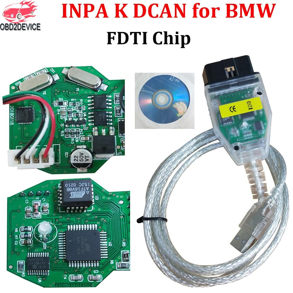 Диагностический инструмент для BMW INPA K DCAN FTDI FT232RQ, сканер OBDII для BMW, интерфейс USB