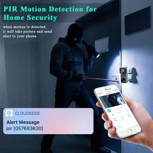 Image 2 - Onvian WiFi kapı zili kamera su geçirmez 1080P HD Video kapı zili hareket dedektörü akıllı kablosuz kapı zili kamera gece görüş ile