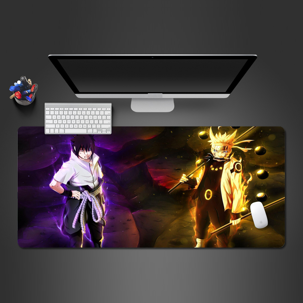 Unique Style Creative 3d Naruto And Sasuke Mouse Pad High-quality Rubber Washable Large Lock Edge Game Pad Office Computer Mats