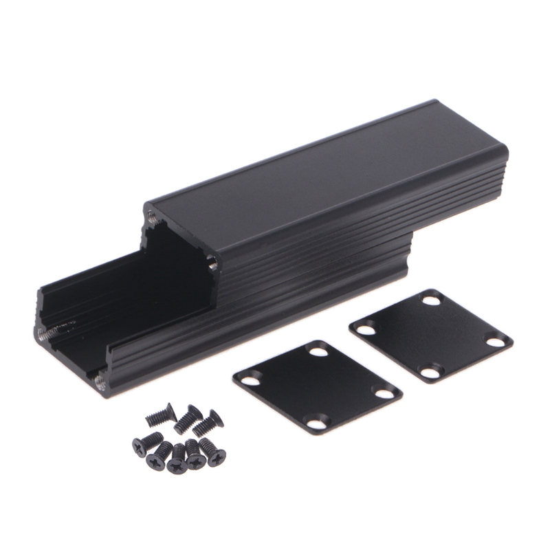 New DIY Extruded Electronic Project Aluminum Enclosure Case Black 80x25x25mm   D5BD