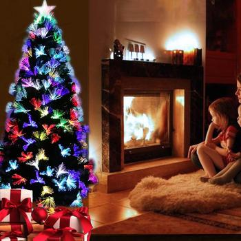 Christmas Tree Artificial Decoration LED Light with Metal Stand for Home Party