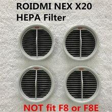 4PCS ตัวกรอง HEPA สำหรับ Xiaomi Roidmi NEX เครื่องดูดฝุ่นไร้สายแบบใช้มือถือ 2 ใน 1 ทำความสะอาด NEX X20 ตัวกรอง HEPA อะไหล่ XCQLX02RM