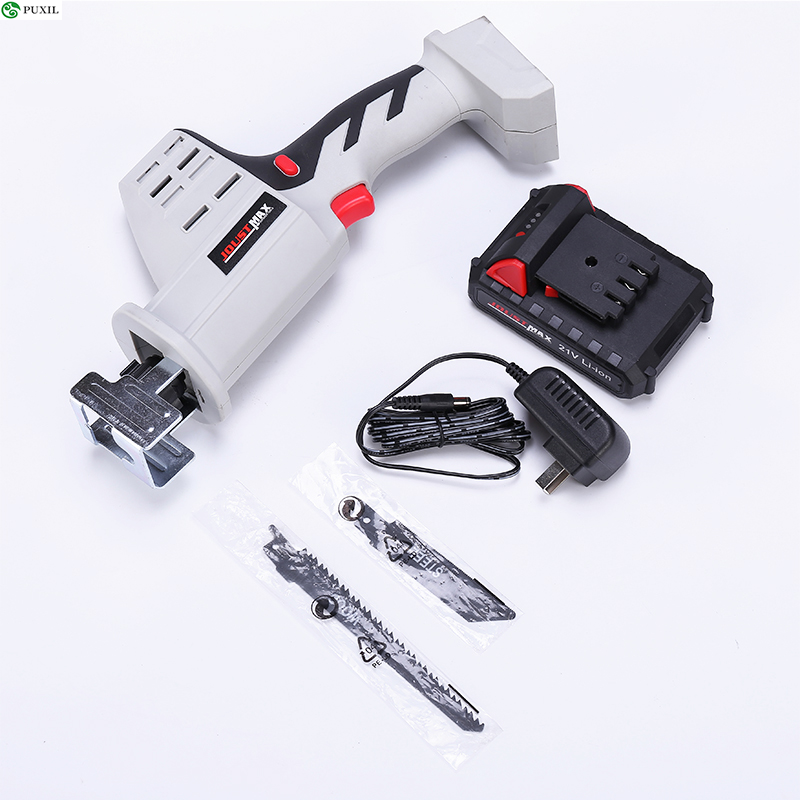 21V Wood Angle Cutting Cordless Alternating Saw Kit Portable Electric Saw Blades Metal Woodworking Tool With Lithium Ion Battery