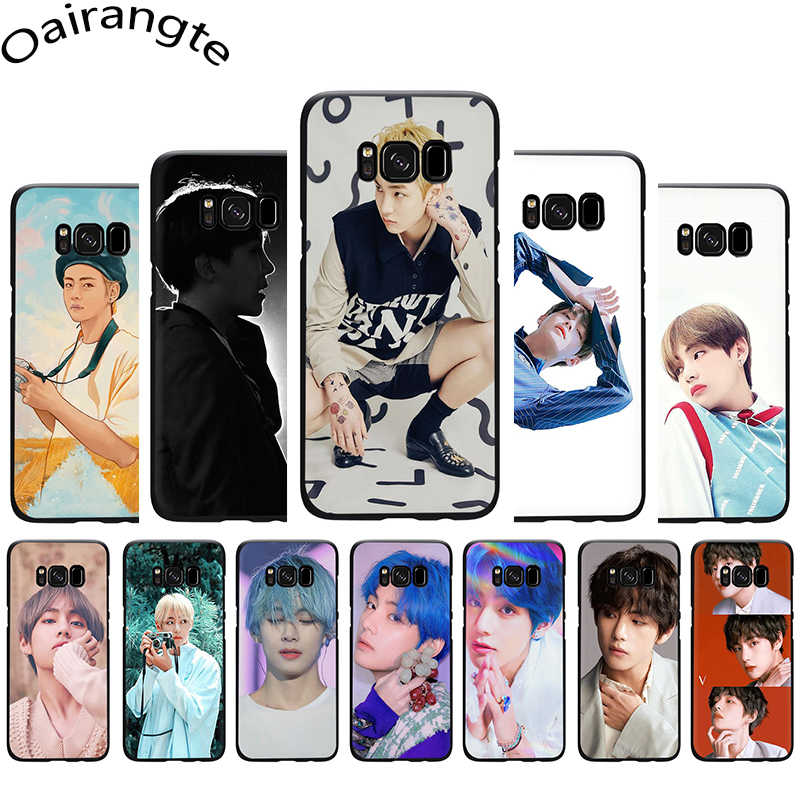 Kim V Taehyung Transparante Zachte Siliconen Case Cover Voor Samsung Galaxy S6 S7 Rand S8 S9 S10 plus S10e Note 8 9 10
