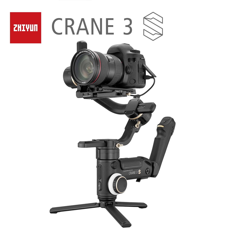 ZHIYUN  Crane 3Sgrue officielle  3 axes stabilisateur de poche pour 6.5KG DSLR caméra rouge BMPCC caméras vidéo bras extensible cardan