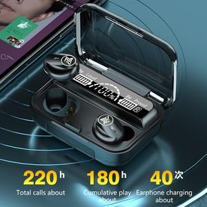 Image 5 - M16 TWS אלחוטי Bluetooth אוזניות IPX7 עמיד למים וזיעה הוכחה מוסיקה אוזניות עבור Iphone Huawei Oppo Xiaomi ספורט אוזניות