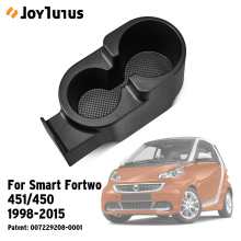 Обновленный Автомобильный держатель для напитков, подставка для чашки, центральная консоль, двойной держатель для чашки для Smart Fortwo 451/450 1998-, автомобильный органайзер для бутылок