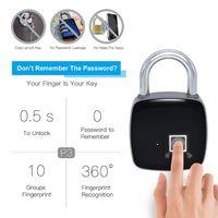 P3 Smart Keyless Fingerprint Lock IP54 Waterproof Inteligente Anti-Theft Security Electric Padlock for Home Door Luggage