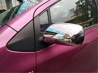 Abs chrome espelho retrovisor capa guarnição/espelho retrovisor decoração para toyota yaris 2009-2013 estilo do carro