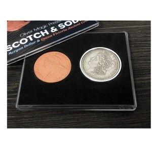 Скотч и Сода от Оливера магии (морганский доллар и королева Виктории, старинная монета), магия фокусы, фокусы, Волшебный реквизит