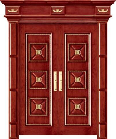 Luxury Carving Designs Thailand Oak Interior Single Solid Wood Door Entry Doors C003