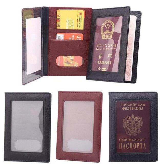 Klare Karte ID Halter Fall Transparent Russland Business Case Passport Abdeckung für Reisepass Taschen