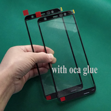 5Pcs Original Glass+oca glue film  For Samsung Galaxy J6 J4 Plus J8 2018 J810 J400 J600 J610 J415 Front Outer Glass Lens Replace