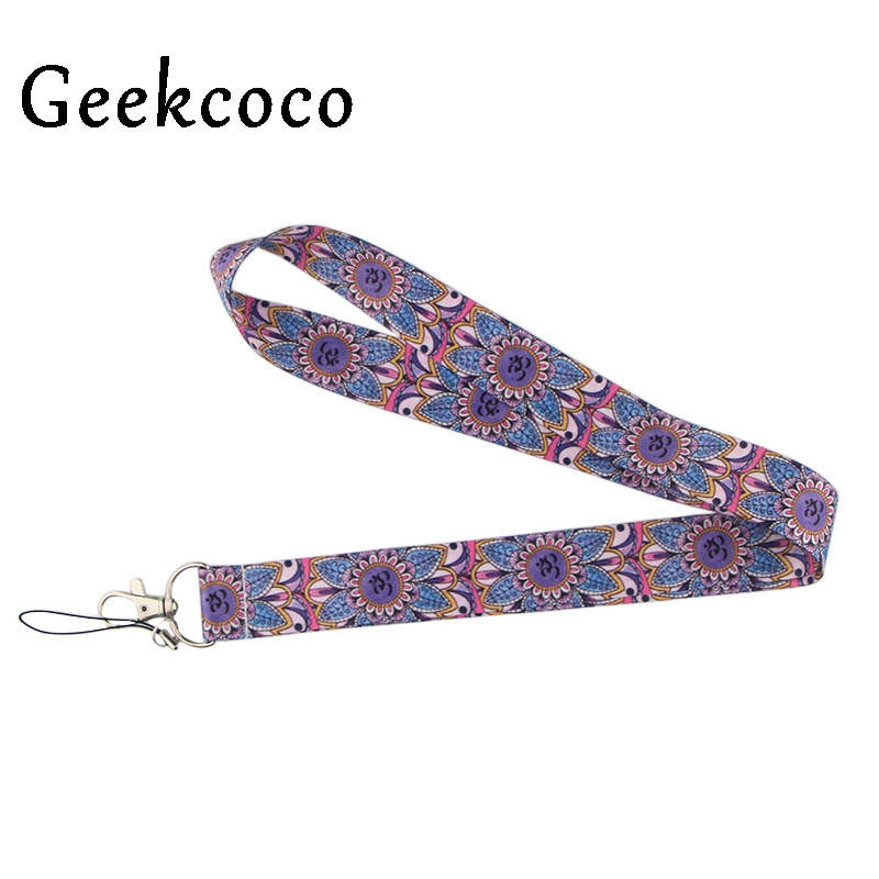 Yoga keychains Accessory Safety For Mobile Phone USB ID Badge Holder Keys Straps Tags Neck lanyard Camera for women J0504 in Key Chains from Jewelry Accessories