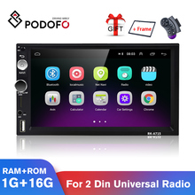 2-Din Radio Multimedia-Player Podofo Wifi Universal Android 7inch Car GPS for Volkswagen
