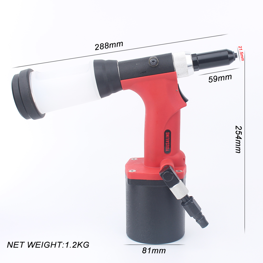Tools : YOUSAILING S30 High Quality Pneumatic Blind Riveter Air Rivet Guns Industrial Level Vacuum 2 4-4 8mm Red Color