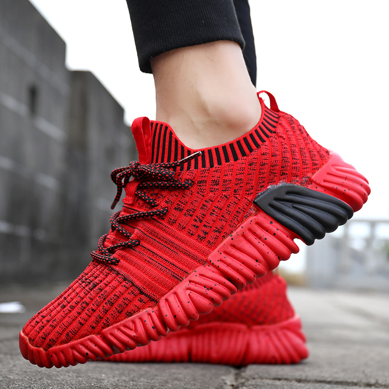 Running Shoes Men Breathable Mesh Sock Men Sneakers Jogging Sneakers Outdoor Super Light Male Sport Walking Trainers Large Size