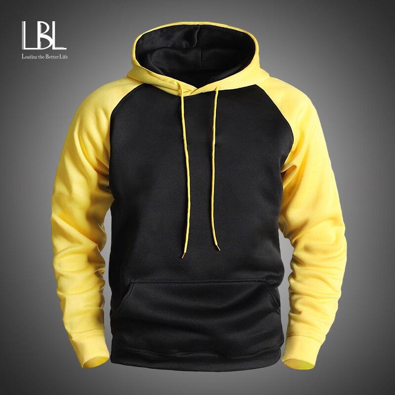 Autumn Mens Patchwork Hoodies 2020 New Fleece Hooded Sweatshirts Men Casual Hoody Fashion Male Streetwear Cardigan Tracksuits