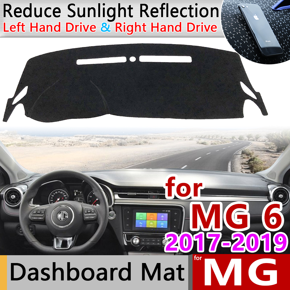 for MG 6 2017 2018 <font><b>2019</b></font> Anti-Slip Mat Dashboard Cover Pad Sunshade Dashmat Protect Anti-UV Carpet Car rug Accessories for <font><b>MG6</b></font> image