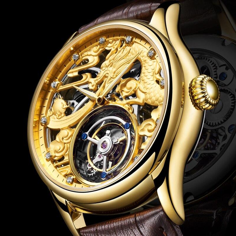 New GUANQIN Original Tourbillon watch men top brand luxury waterproof skeleton Sapphire Mechanical Tourbillon relogio masculino 1