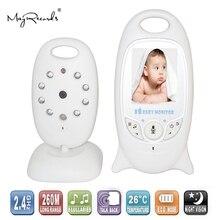 2 cal kolorowe wideo bezprzewodowy niania elektroniczna Baby Monitor z kamerą Baba elektronicznych bezpieczeństwa 2 mówić Nigh Vision IR LED monitorowanie temperatury