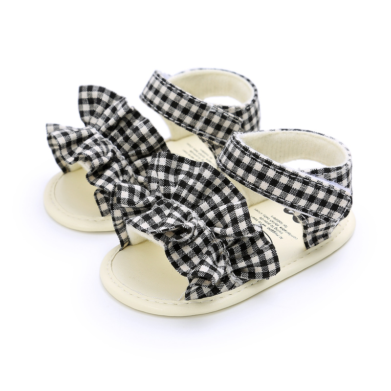 Summer Baby Girl Sandals PU Leather Lovely Angel Wings Gold Crown Anti-Slip Rubber Sole Princess Dress First Walkers Shoes