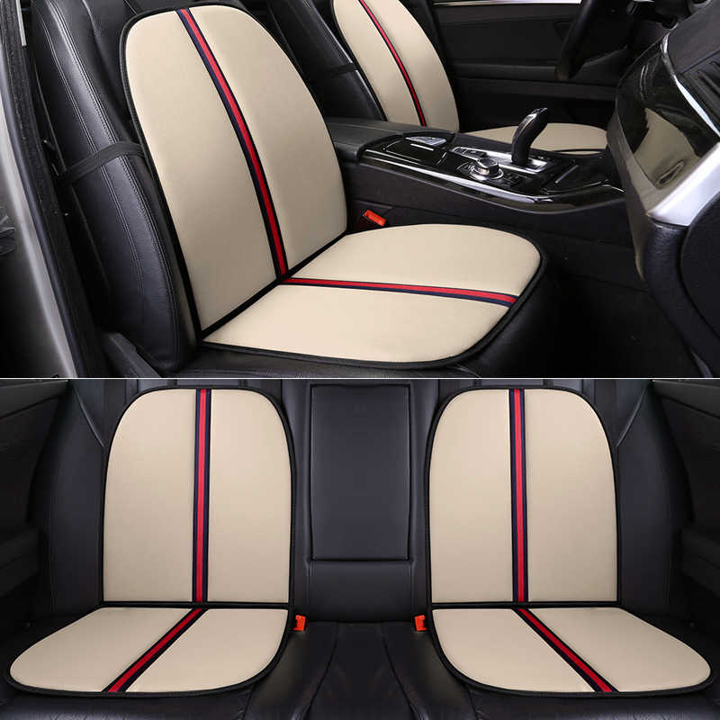 التغطية الكاملة الكتان الألياف غطاء مقعد السيارة مقاعد السيارات يغطي لتويوتا أوريس كورولا بريوس كامري c hr rav4 suv fortuner هايلاندر