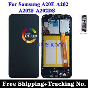 Tested Original LCD For SAMSUNG A20E LCD A202 Display LCD for Samsung A202 A202F LCD Screen Touch Digitizer Assembly
