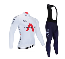 WULITOTO Outdoor White Cycling Jersey 9D bike pants Winter jacket Long sleeve suit For Men