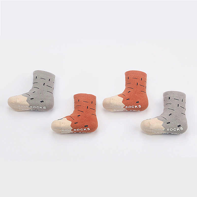 Chaussettes pour enfants corée du sud nouveau Style enfants chaussettes griffe chaussettes pour bébés infantile épais hiver distribution anti-dérapant chaussettes courtes