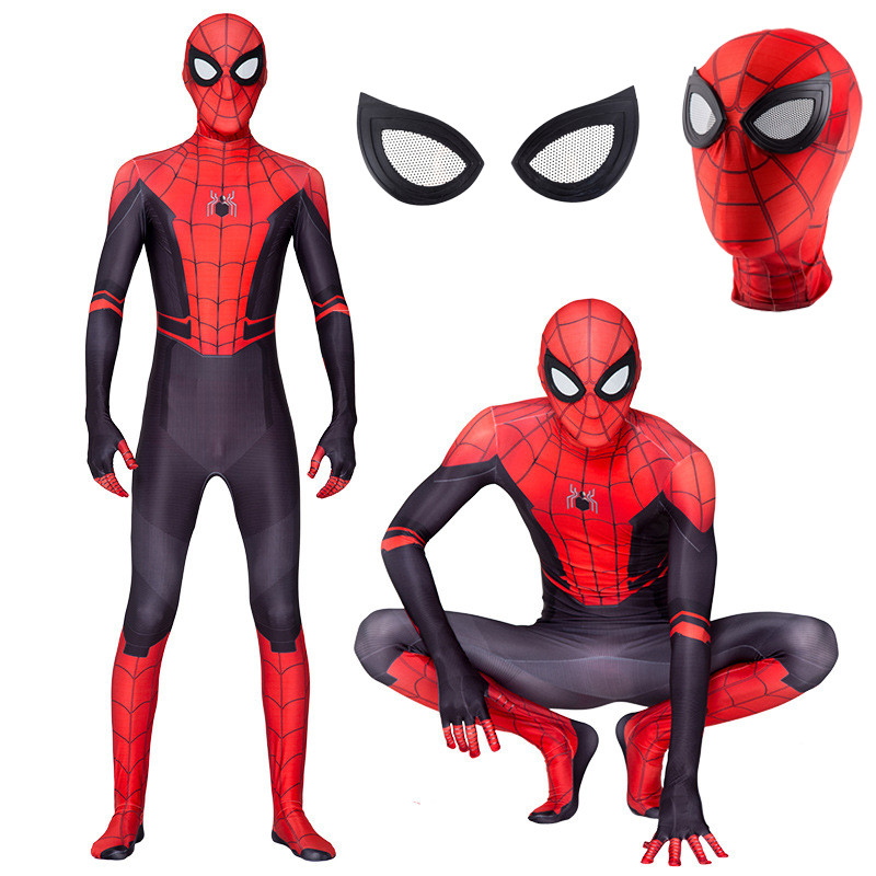 Spider-Man Far From Home Adults Kids Halloween Zentai Cosplay Costume Suit Xmas