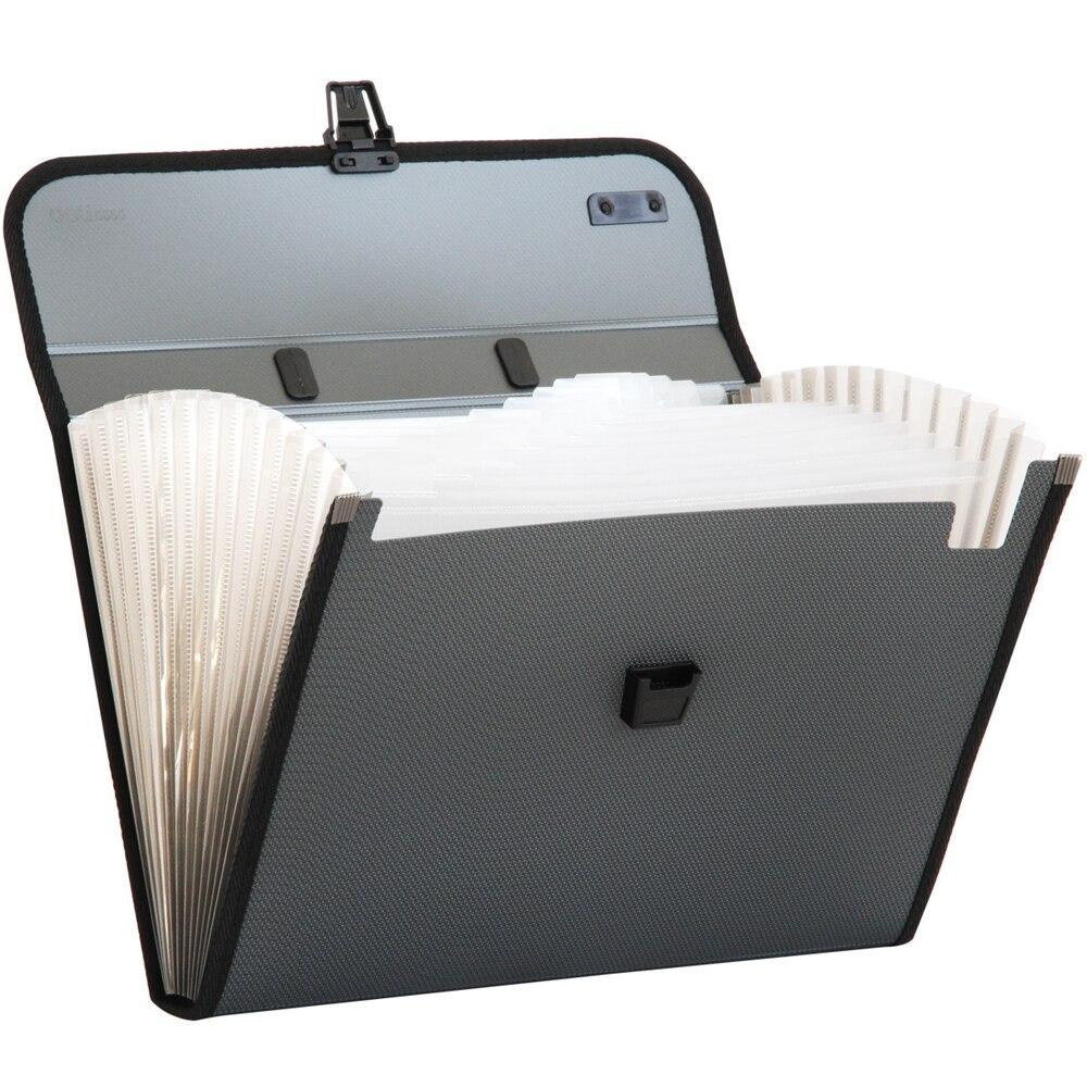 Deli 1pcs A4 File Folder Document Bags Expanding Wallet Business Series Folder Bag Office School Supplies 3 Colors