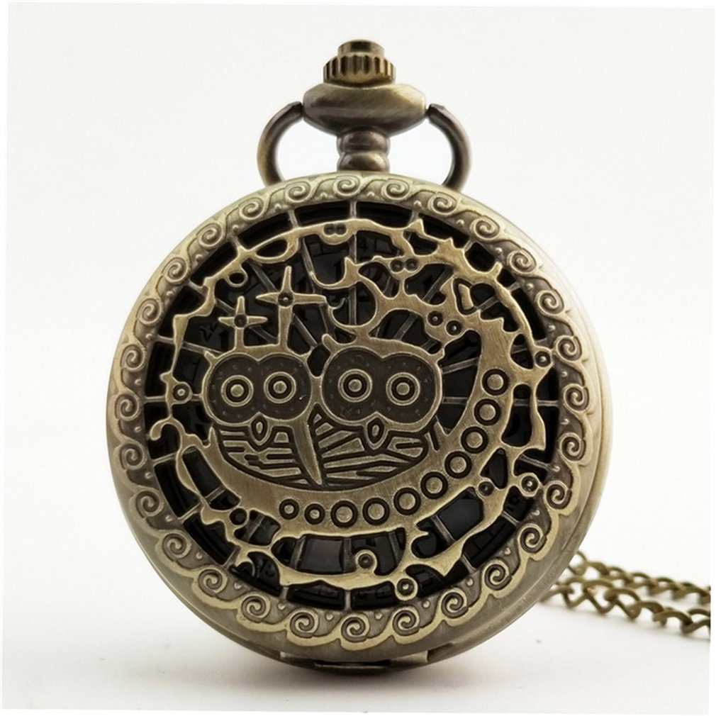 Unique Men Women Vintage Pocket Watch Roman Numerals Fob Watch Glass Dial Necklace Pendant Clock Time With Chain New