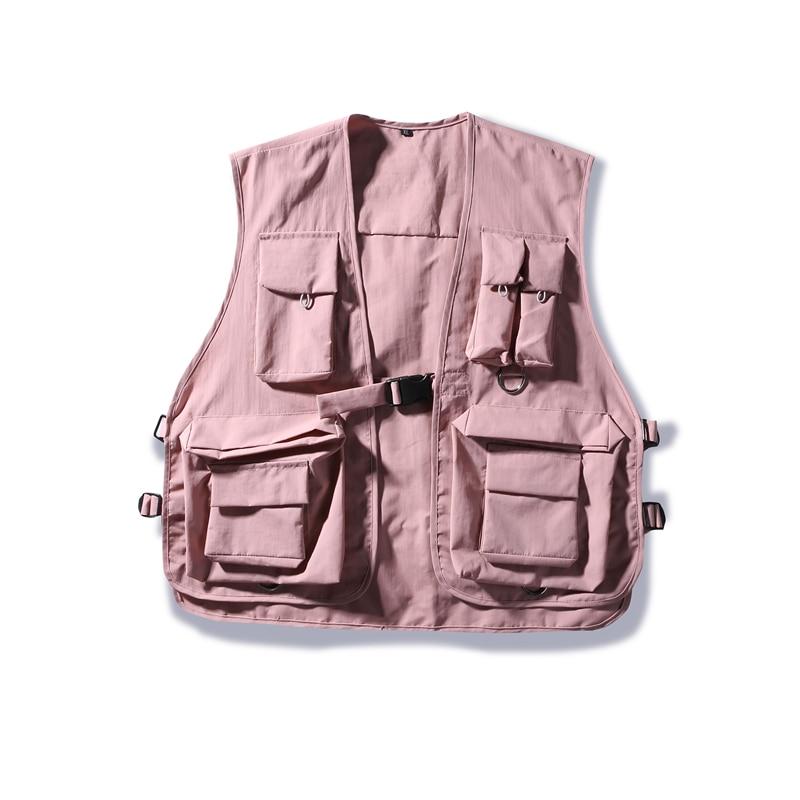 Military Multiple Pockets Cargo Vest Hip Hop Vest Men Dad Core Vest Sleeveless Jacket Gilet Men's Tactical Vest Sweatshirts 2019
