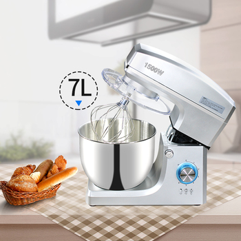 Commercial stainless steel 1500W powerful Dough Mixer Household Electric Food Mixer 7L Egg Cream Salad Beater cake mixer