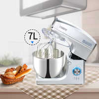 Commercial stainless steel bowl 1500W powerful Dough Mixer Household Electric Food Mixer 7L Egg Cream Salad Beater cake mixer